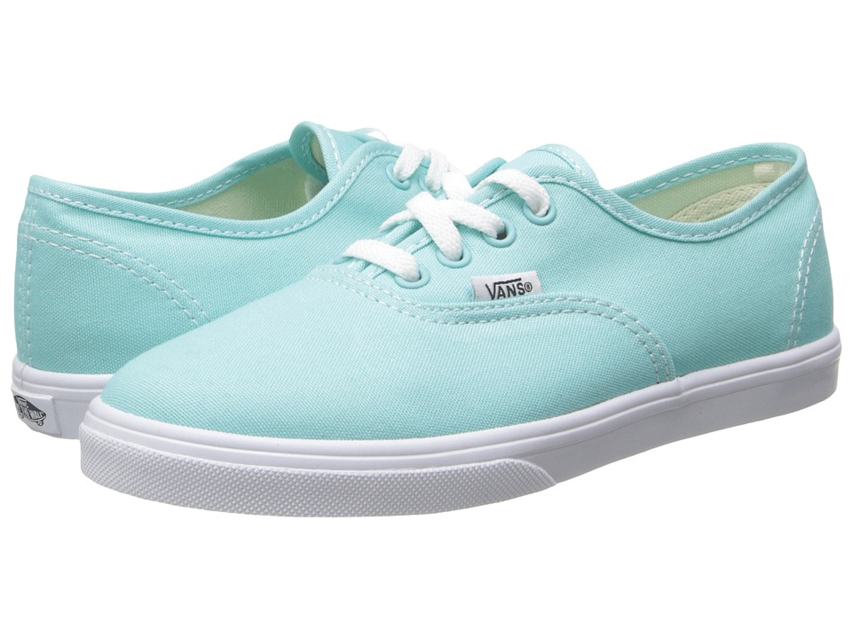 Vans Kids - Authentic Lo Pro (Little Kid/Big Kid) (Aqua Splash/True White) Girls Shoes