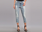 DKNY Jeans Soho Skinny Rolled Crop in Icy Brook Wash