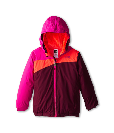 The North Face Kids - Insulated Poquito Jacket (Toddler) (Azalea Pink/Rocket Red) Girl