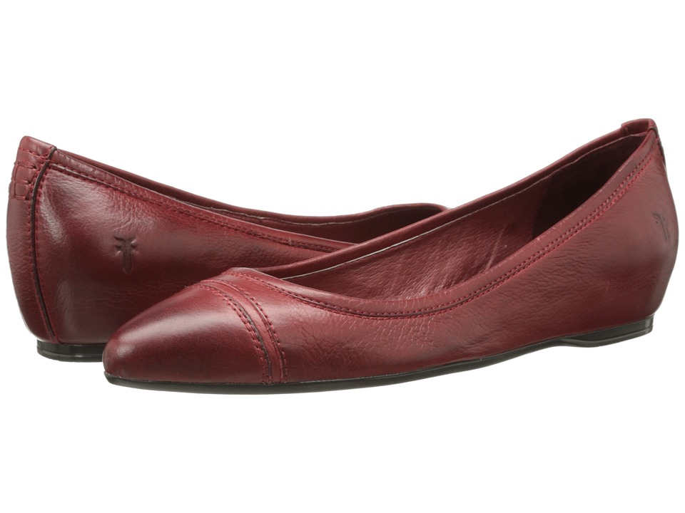 Frye - Alicia Ballet (Burnt Red Soft Vintage Leather) Women