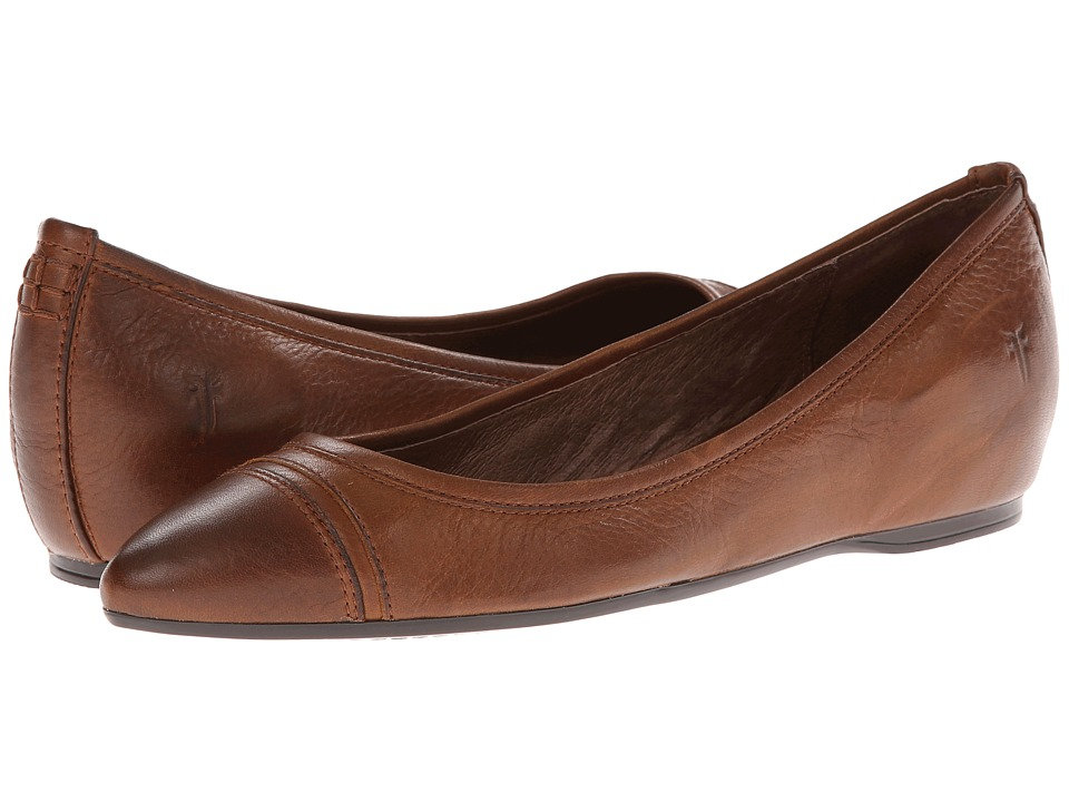 Frye - Alicia Ballet (Cognac Soft Vintage Leather) Women's Flat Shoes
