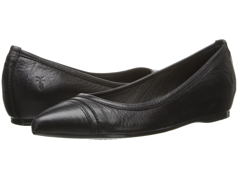 Frye - Alicia Ballet (Black Soft Vintage Leather) Women