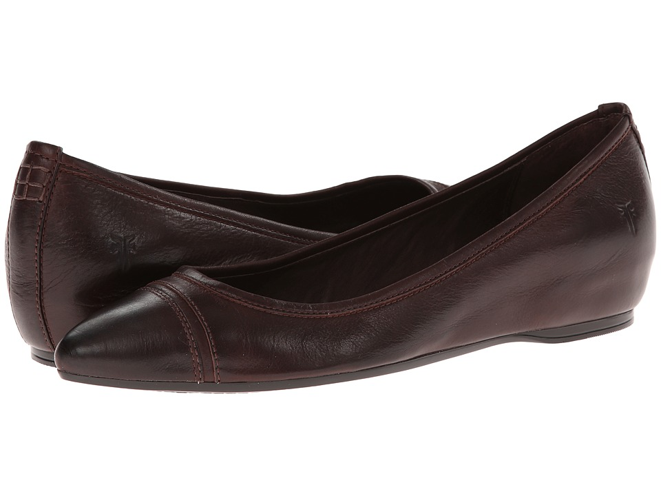 Frye - Alicia Ballet (Dark Brown Soft Vintage Leather) Women's Flat Shoes