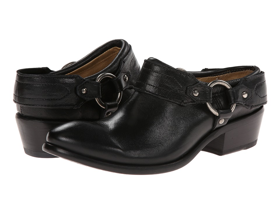 Frye Carson Clog (Black Washed Antique Pull Up) Women