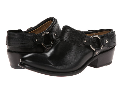 Frye - Carson Clog (Black Washed Antique Pull Up) Women's Clog Shoes