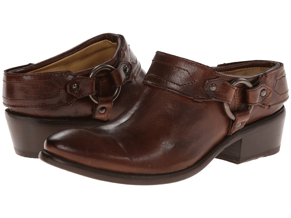 Frye Carson Clog (Brown Washed Antique Pull Up) Women