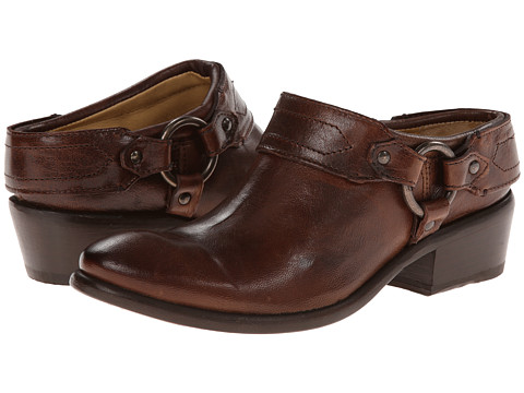 Frye - Carson Clog (Brown Washed Antique Pull Up) Women's Clog Shoes