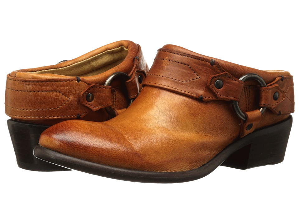 Frye - Carson Clog (Cognac Washed Antique Pull Up) Women's Clog Shoes