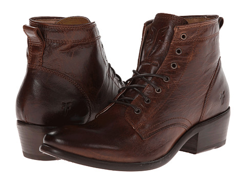 Frye - Carson Lace Up (Brown Washed Antique Pull Up) Cowboy Boots