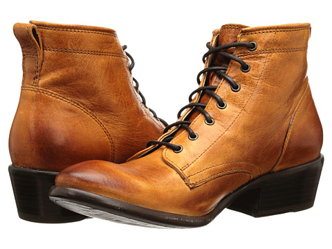 Frye - Carson Lace Up (Cognac Washed Antique Pull Up) Cowboy Boots
