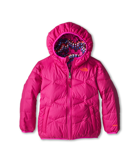 The North Face Kids - Reversible Moondoggy Jacket (Toddler) (Azalea Pink) Girl