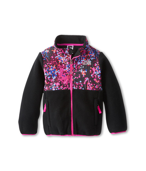 The North Face Kids - Denali Jacket (Toddler) (Recycled TNF Black/TNF Black Multi) Girl's Coat
