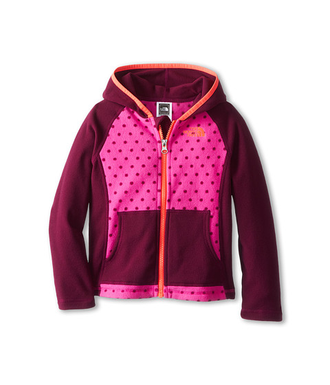 The North Face Kids - Glacier Full Zip Hoodie (Toddler) (Azalea Pink/Parlour Purple Dot) Girl's Sweatshirt