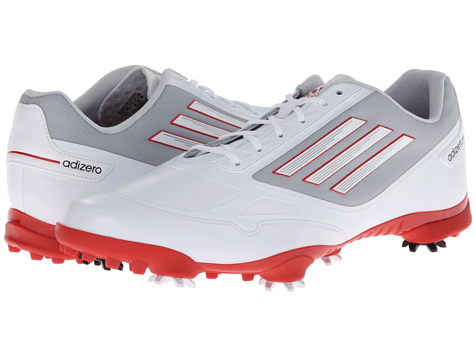 adidas Golf - adiZero One (Running White/Black/Collegiate Red) Men's Golf Shoes
