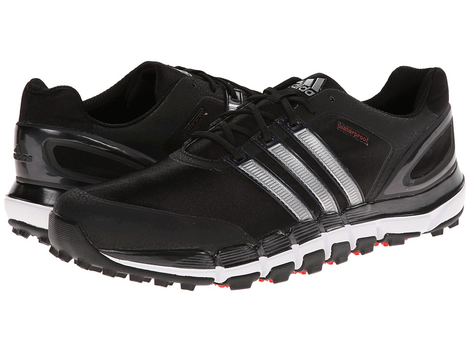 adidas Golf - pure 360 GripMore Sport (Black/Metallic Silver/Light Scarlet) Men's Golf Shoes