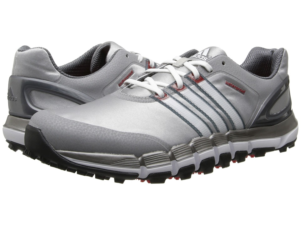 adidas Golf - pure 360 GripMore Sport (Light Onix/Running White/Light Scarlet) Men's Golf Shoes