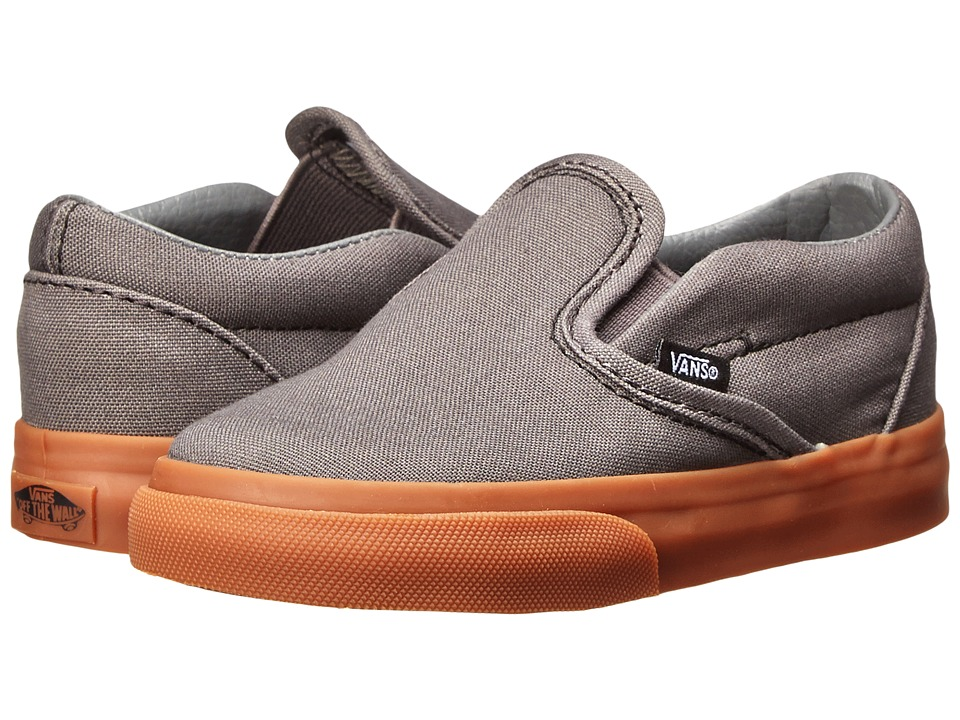 Vans Kids - Classic Slip-On (Toddler) (Pewter/Gum) Boys Shoes