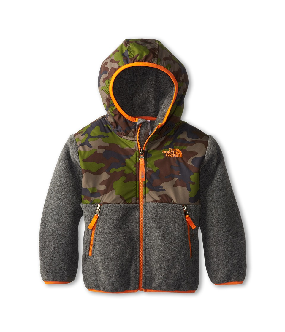 The North Face Kids - Denali Hoodie (Toddler) (Recycled Charcoal Grey Heather/Scallion Green Camo Print) Boy's Sweatshirt