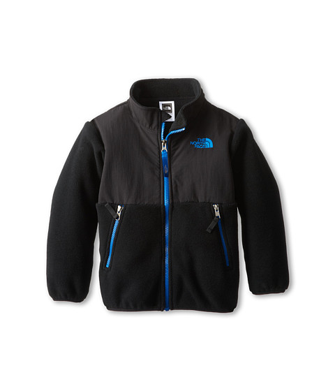 The North Face Kids - Denali Jacket (Toddler) (Recycled TNF Black/Snorkel Blue) Boy's Coat