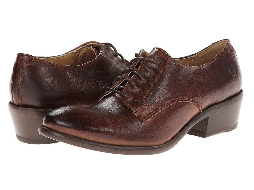 Frye - Carson Oxford (Brown Washed Antique Pull Up) Women's Lace up casual Shoes