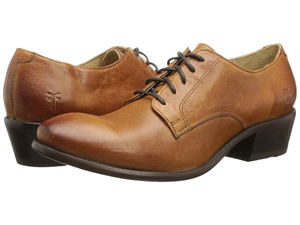 Frye - Carson Oxford (Cognac Washed Antique Pull Up) Women's Lace up casual Shoes