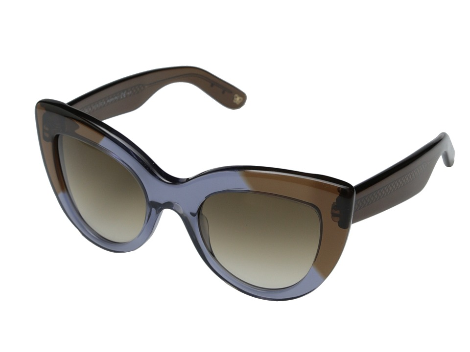 Bottega Veneta - BV 263/S (Blue/Brown Gradient) Fashion Sunglasses