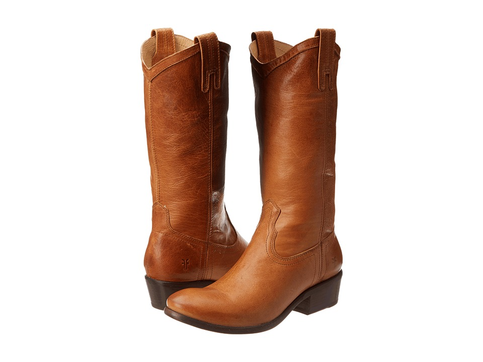 Frye - Carson Pull-On (Cognac Washed Antique) Cowboy Boots