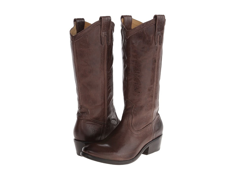 Frye - Carson Pull-On (Smoke Washed Antique) Cowboy Boots
