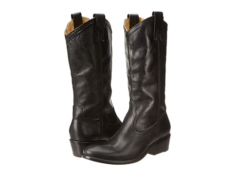 Frye - Carson Pull-On (Black Washed Antique) Cowboy Boots