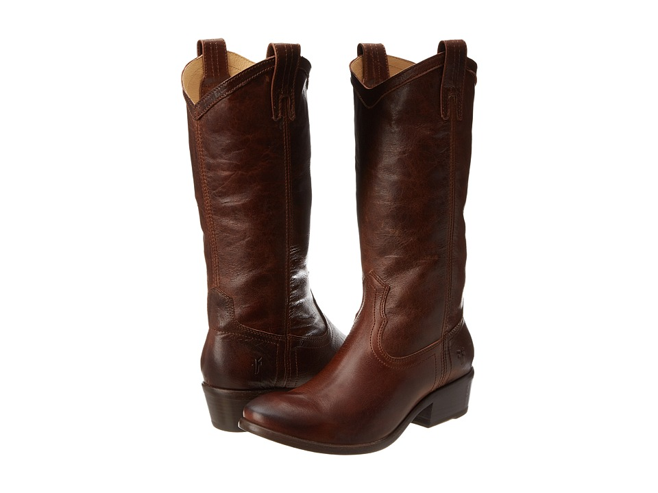 Frye - Carson Pull-On (Brown Washed Antique) Cowboy Boots