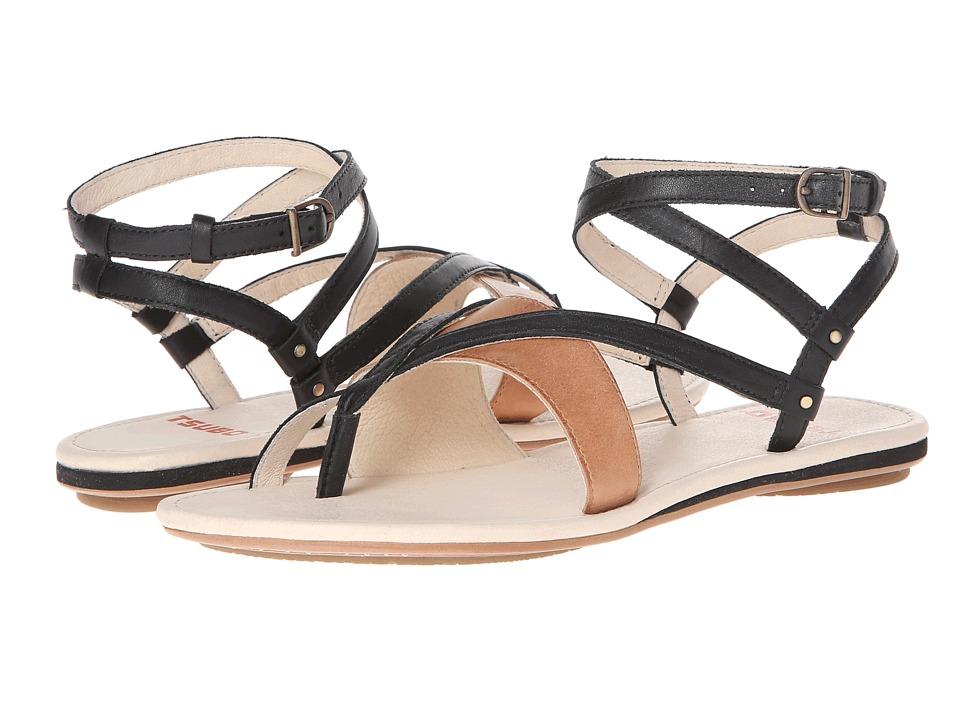 Tsubo - Brenleigh (Black Leather) Women's Sandals