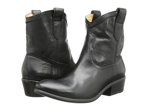 Frye - Carson Shortie (Black Washed Antique) Cowboy Boots