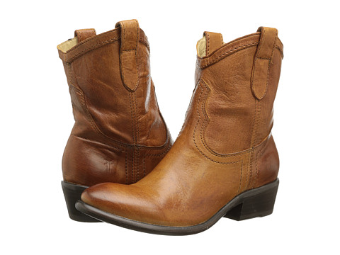 Frye - Carson Shortie (Cognac Washed Antique) Cowboy Boots
