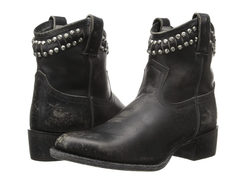 Frye - Diana Cut Stud Short (Black Stonewash) Cowboy Boots