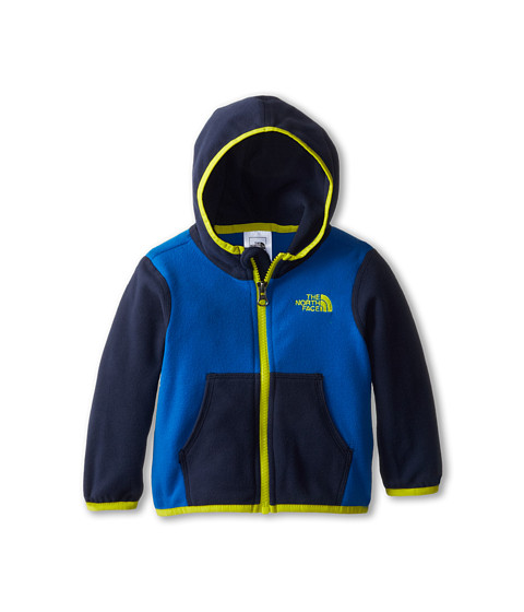 The North Face Kids - Glacier Full Zip Hoodie (Infant) (Snorkel Blue/Cosmic Blue) Kid's Sweatshirt