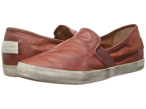 Frye - Dylan Slip (Burnt Red Washed Smooth Vintage) Women's Shoes