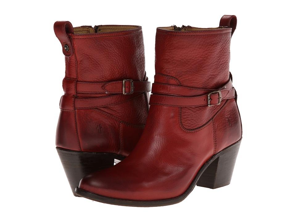 Frye - Jackie Rivet Short (Burnt Red Soft Vintage Leather) Women's Shoes