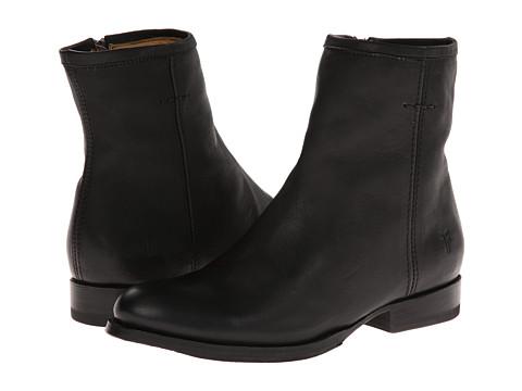 Frye - Jamie Artisan Short (Black Washed Vintage) Women's Zip Boots