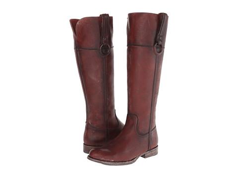 Frye - Jamie Ring Tall (Bordeaux Polished Stonewash) Cowboy Boots