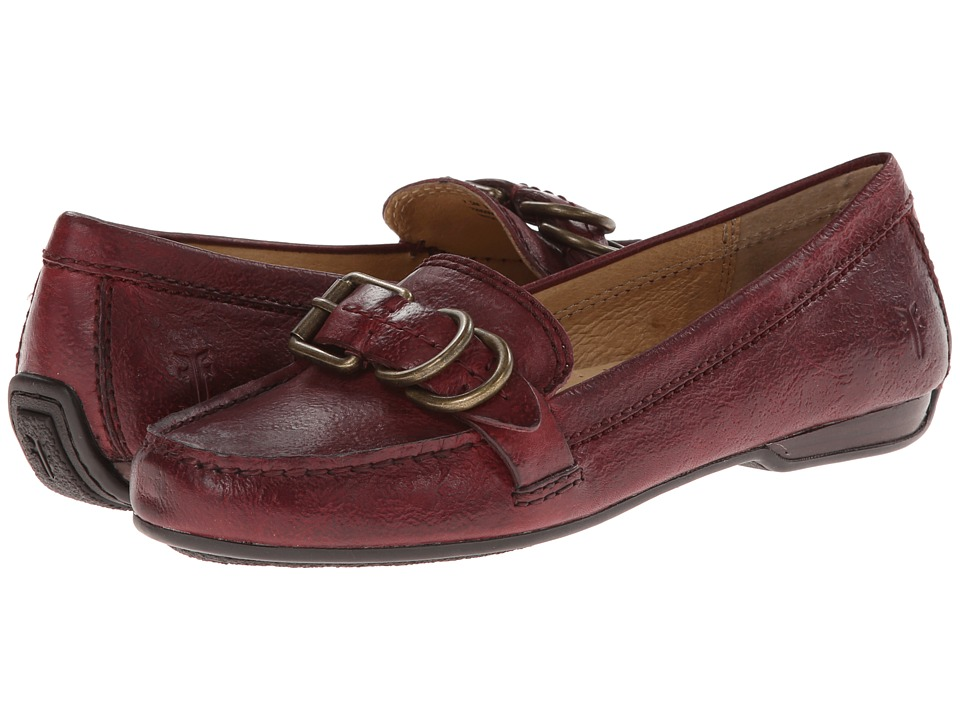 Frye - Janet D Ring (Bordeaux Hammered Full Grain) Women