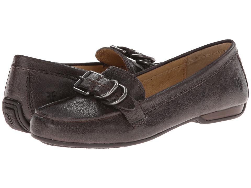 Frye - Janet D Ring (Charcoal Hammered Full Grain) Women's Slip on Shoes