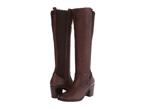 Frye - Janis Gore Tall (Dark Brown Buffalo Leather) Women