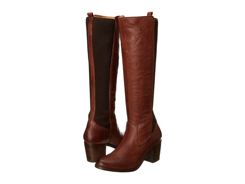 Frye - Janis Gore Tall (Whiskey Buffalo Leather) Women