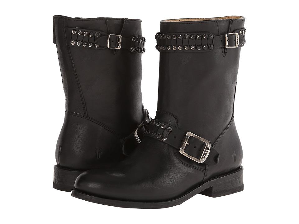 Frye - Jayden Cut Stud (Black Washed Vintage) Cowboy Boots