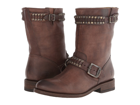 Frye - Jayden Cut Stud (Dark Brown Washed Vintage) Cowboy Boots