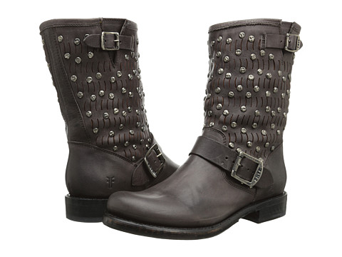 Frye - Jenna Cut Stud Short (Charcoal Washed Vintage) Women's Shoes