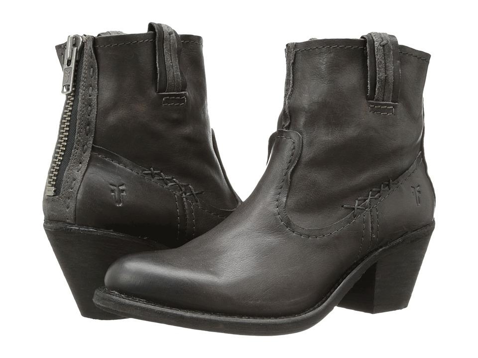 Frye - Leslie Artisan Short (Charcoal Washed Vintage) Cowboy Boots