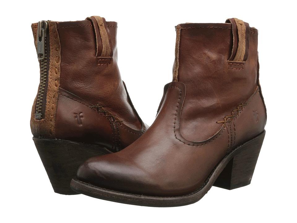 Frye - Leslie Artisan Short (Whiskey Washed Vintage) Cowboy Boots