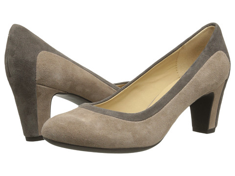 Geox - D Mariele Mid (Ebony/Taupe (Suede Streamline)) High Heels