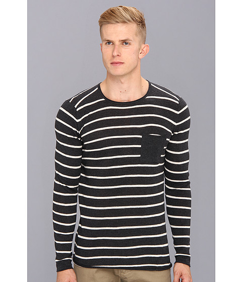 Zanerobe - Striped Derek Knit (Black Stripe) Men's Sweater